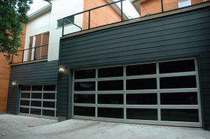 contemporary style glass garage door sedona az